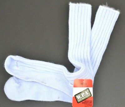 Vintage Men's Thick Soft Fuzzy Ribbed Orlon Acrylic Socks Size 10-13 Periwinkle