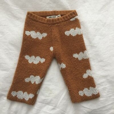 Bobo Choses Cloud Sweater Pants 6-12 Month GUC The Unknown Mountain Journey