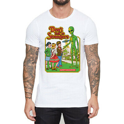 Don't Talk to Strangers Funny Cotton Men's T-shirt Short Sleeve Tee Casual Cloth
