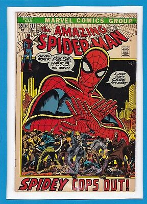 "Amazing Spider-Man #112_September 1972_Very Good+_""spidey Cops Out""_Bronze Age!"