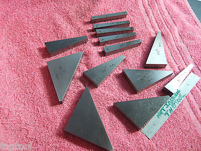 Flat Angle Gage Blocks (13) 1* To 45* Machinist Toolmaker Inspection Grind!!