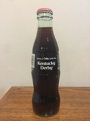 2018 Kentucky Derby 8Oz. Coca Cola Bottle.