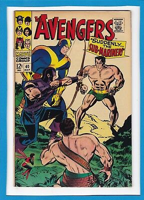 "Avengers #40_May 1967_Very Good Minus_""suddenly...the Sub-Mariner""_Silver Age!"