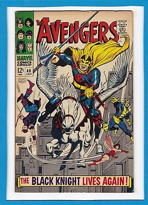 Avengers #48_January 1968_Very Good_Black Knight_Magneto_Silver Age Marvel!