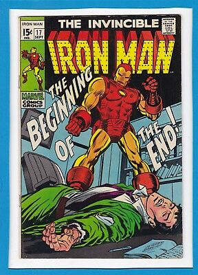 "Invincible Iron Man #17_Sept 1969_Very Fine Minus_""the Beginning Of The End""!"