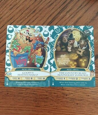 Sorcerers of the Magic Kingdom Party Cards Goofy and Country Bears