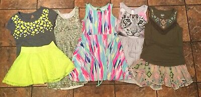 Girl's Size 10 Justice Dress/Skirt Lot- 7 Spring/Summer Pieces Total! EXCELLENT!