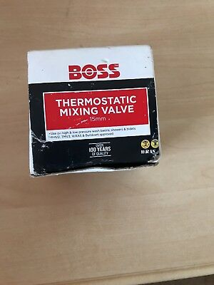 Boss 15mm Thermostatic Blending Mixing Valve + All fittings, sealed.