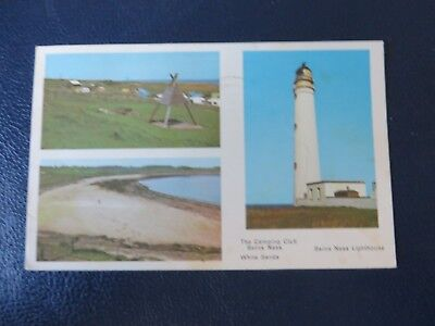 Barns Ness, White Sands, Camping Club & Lighthouse, Postcard 1975