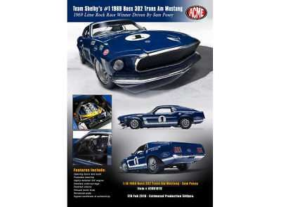 Ford Trans AM Mustang Boss 302 #1 Sam Posey 1969 1:18 - 1801819 ACME