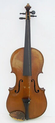 Antique VIOLIN by AUG. HAMMACHER copy of Nicklaus Amati Bow & Case German Made