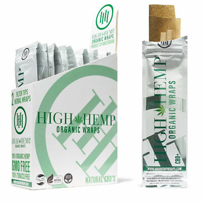 High Hemp Herbal Organic Wraps full box of 25 pouches  (50 total wraps)