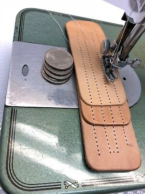 Industrial Strength Heavy Duty Vntg Kingston Sewing Machine Sew Leather Complete