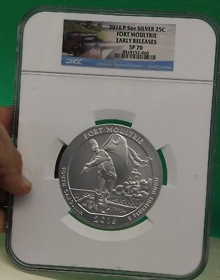 2016-P ATB 5 oz SILVER FORT MOULTRIE  NGC SP70 EARLY RELEASES - GREAT COIN!