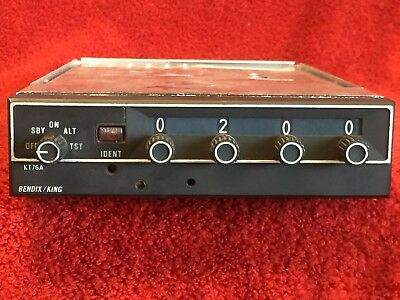 Bendix/king Kt 76A Atc Transponder P/n 066-1062-00 With Tray