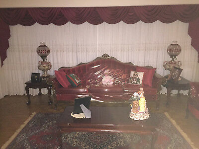 New Condition Retro French Provincial Couch & Loveseat Set + More!