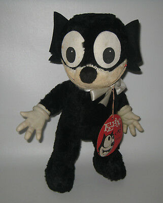 Vintage 1950s Gund Felix the Cat Stuffed Animal Plush Doll w/ Tag HU19