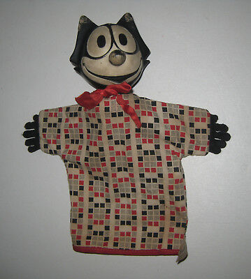 Rare Vintage 1960s Gund Felix the Cat Cartoon Character Hand Puppet HU20