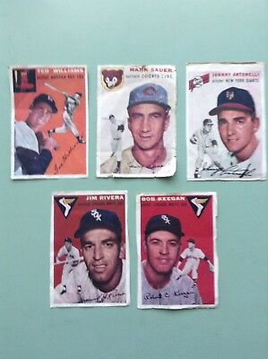 1954 Sports Illustrated Issue #1 ~ Hand Cut Cards Lot of 5