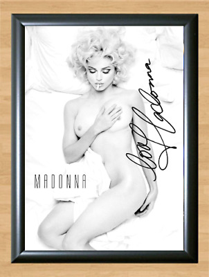 Madonna Nude Bad Girl Signed Autographed A4 Photo Print Poster Memorabilia cd