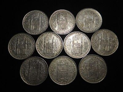 F185 India Hyderabad Rupee Mixed Dates Group 10 Pieces
