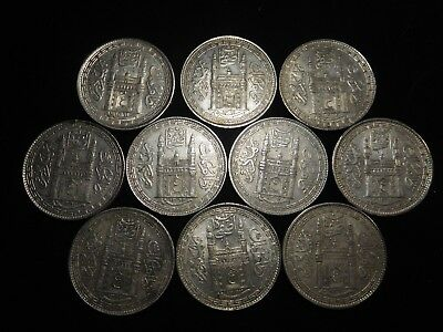 F186 India Hyderabad Rupee Mixed Dates Group 10 Pieces