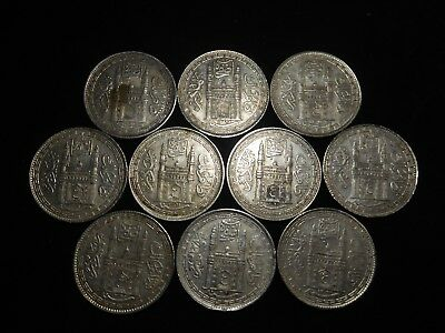 F187 India Hyderabad Rupee Mixed Dates Group 10 Pieces