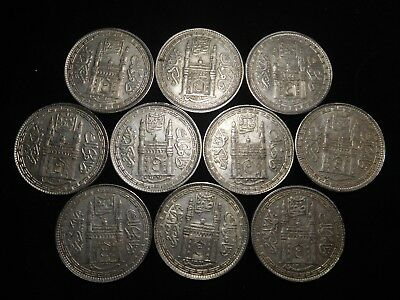 F189 India Hyderabad Rupee Mixed Dates Group 10 Pieces