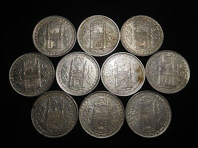 F190 India Hyderabad Rupee Mixed Dates Group 10 Pieces
