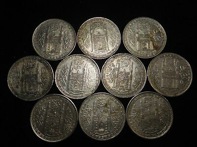 F192 India Hyderabad Rupee Mixed Dates Group 10 Pieces