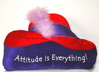 Red Hat Satin Velveteen Pillow Feather Embroidered Letters Society Ladies