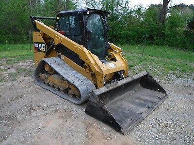 """2014 CAT 289D Skid Steer Track Loader with 85"""" Bucket Cab Heat Air - Ship $500"""