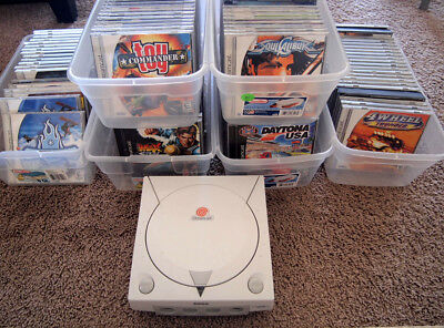 Sega Dreamcast games lot, system console, all complete, many rare games