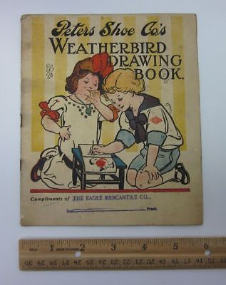 Vintage Peters Shoe Weatherbird Coloring Book St Louis MO Missouri Eagle bv5609