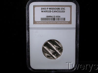 2003-P Missouri State Quarter 25 Cents Ngc Waffled Cancelled