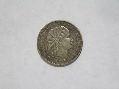 Republic Haiti 1890 20 Cent Centimes Silver Type Old World Coin Collection Lot