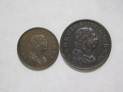 Essequibo & Demerary 1813 Half & One Stiver British Guiana Coin Collection Lot