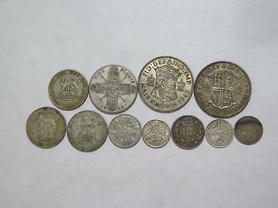Great Britain Half Crown Shilling 3 Six Pence Florin World Coin Collection Lot