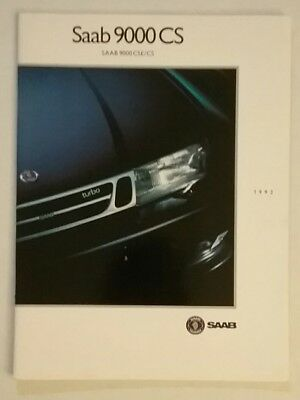 Vintage 1993 SAAB 9000 CS 38 Page Car Auto Sales Brochure Free Shipping