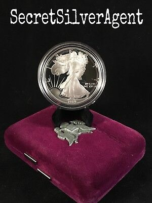 1989-S American Silver Eagle 1 oz Proof Coin with Premium Box *FREE SHIPPING*