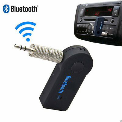 35mm USB Mini Bluetooth Wireless Aux Stereo Audio Music Car Adapter Rece Gift^