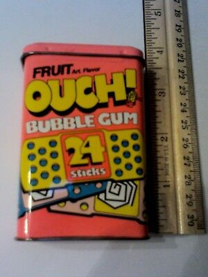 Vintage Ouch! Bubble Gum Tim With Hinged Lid Very Nice Condition