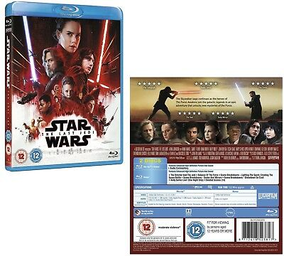 STAR WARS 8 (2017) - VIII - THE LAST JEDI - Region Free BLU-RAY + BONUS Disc