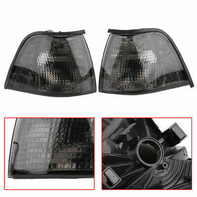 For 92-98 BMW E36 3-SERIES 2DR Coupe/Convertible Euro Smoke Corner Light Cover