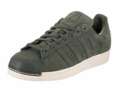 meet 9e02d 6cbb6 New Mens Adidas Superstar Shoes Green Night Shell Toe Bz0200 Suede  Sneakers