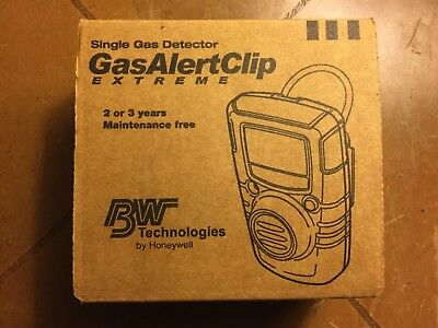 NIB New BW Gas Alert Clip Extreme 2 Single Gas Detector GA24XT-X 24 Months