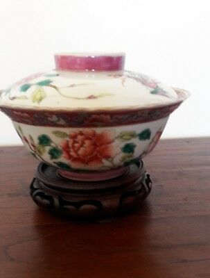 Famille Rose Antique Bowl (Large) - Late 19th Century