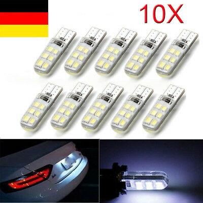 10x T10 194 COB 2835 SMD 12 LED Auto Canbus Lizenz Light Bulb Deutsche Post