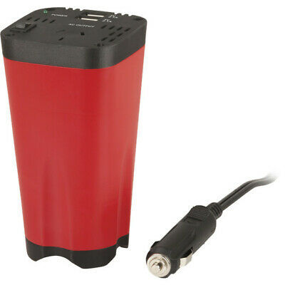 MI5128 POWERTECH 150W Cup Holder Inverter Dual USB 2.1A Output Powered by