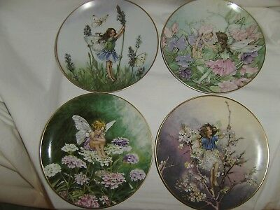 4 VILLEROY & BOCH Heinrich Plates from the Flower Fairies Collection, Ltd. Eds.